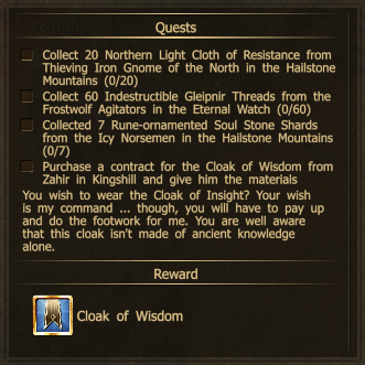 Drakensang Online Quest for the Cloak of Wisdom