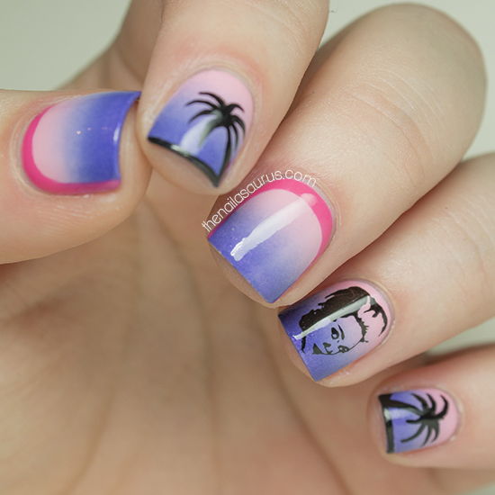 The Nailasaurus: Miley Cyrus Bangerz Inspired Nail Art