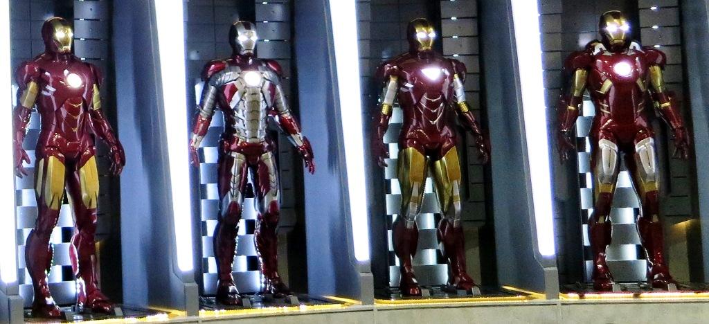 Iron man 3 - algunas armaduras