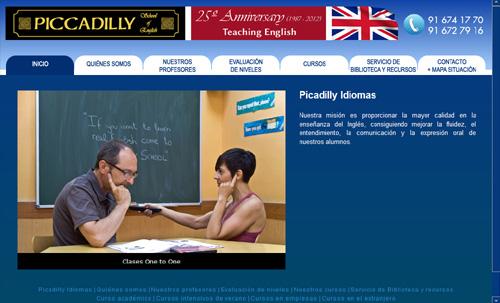 página web de Piccadilly Idiomas