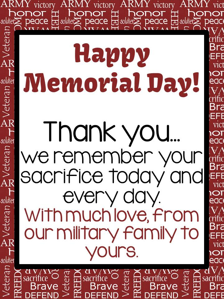 Happy Memorial Day from Fern Smith's Family to Yours