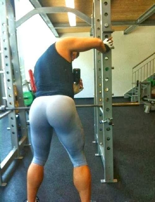 Hot guy in workout tights for men