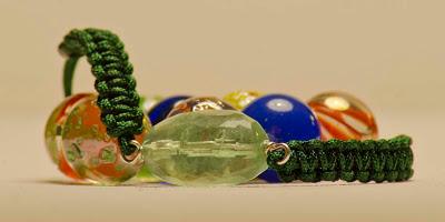 Pulsera plata cuarzo verde, fluorita, semipreciosa, artesanal, personalizada. Joyería en plata