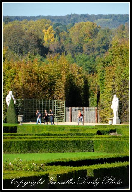 Autumn Versailles palace gardens