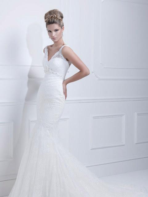 Ellis wedding dresses 2013  lace v-neck mermaid
