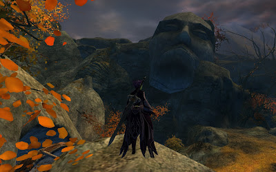 GW2 Guild Wars 2 face in the rocks