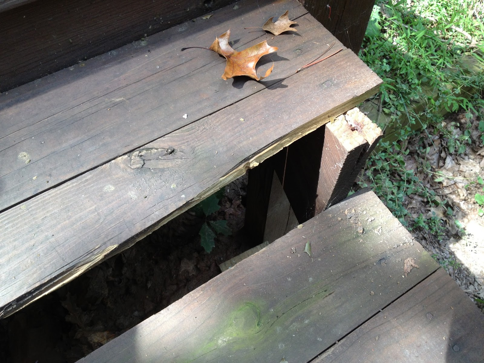It Was Rapidly Becoming A Major Safety Hazard. We Thought About Replacing  The Old Wood Decking With New Wood Decking, But Given How This Wood Has  Fallen ...