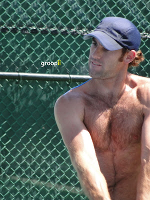 Robby Ginepri Shirtless at Cincinnati Open 2010