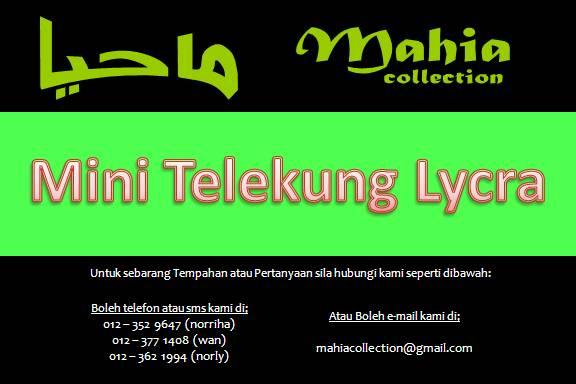 Mini Telekung Lycra