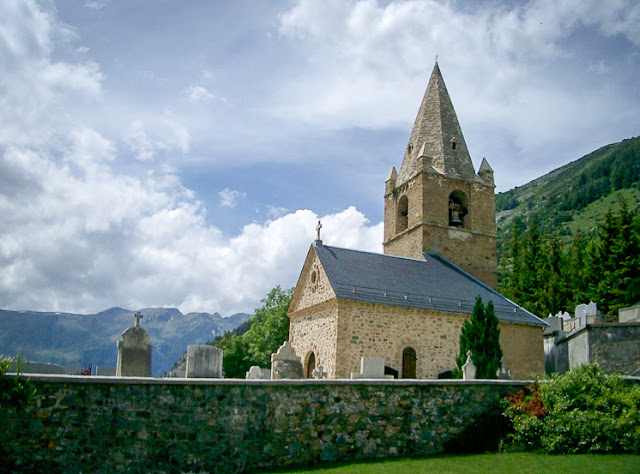 Church of Sainte Anne - the church on Alpe d'Huez.