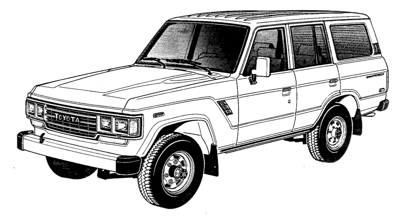 toyota land cruiser coloring pages sketch coloring page