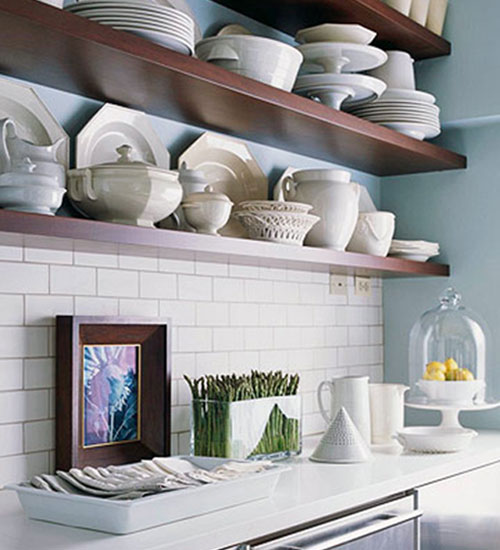 Open Kitchen Shelves Decorating Ideas: Modern Furniture: Easy Ideas For Decorating Small Spaces