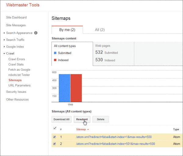 Sitemaps Di Webmaster Tool