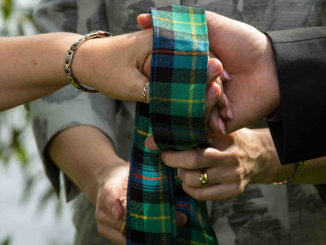 handfasting scottish tartan