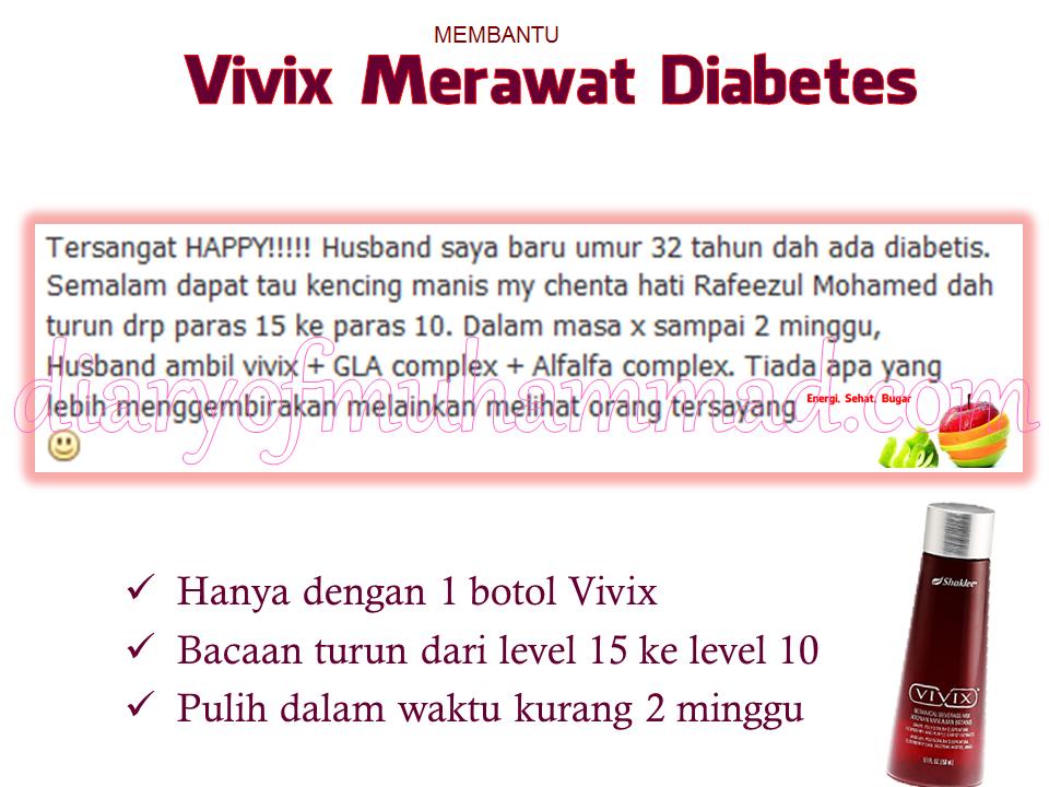 diabetis dan vivix shaklee
