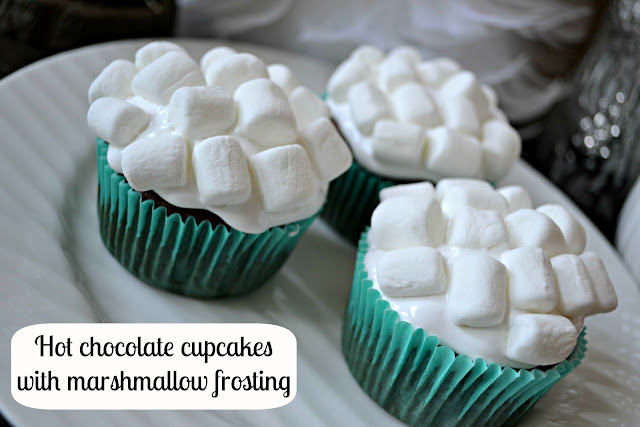 hot chocolate cupcakes with marshmallow frosting #NIVEAMoments