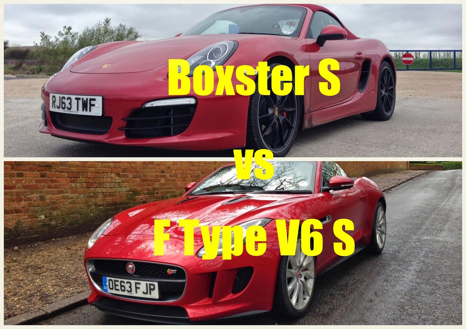 Jaguar F-Type V6 S vs Porsche Boxster S