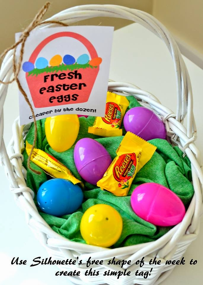 Make it scrappin cute easter gift idea chocolate eggs in a basket along with some plastic ones and delivered my gift to my neighbor so there you have it a simple and quick easter gift idea negle Images
