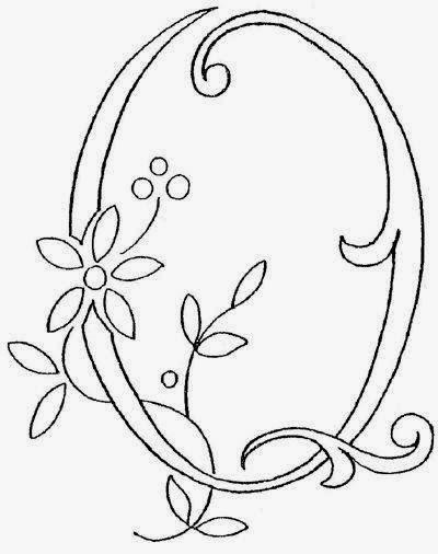 Q flower calligraphy monogram tattoo stencils