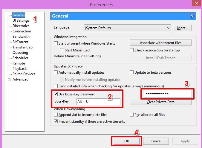 Utorrent-Boss-key