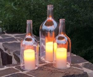 Kerajinan Tangan Dari Botol Bekas - Lilin Botol Bekas