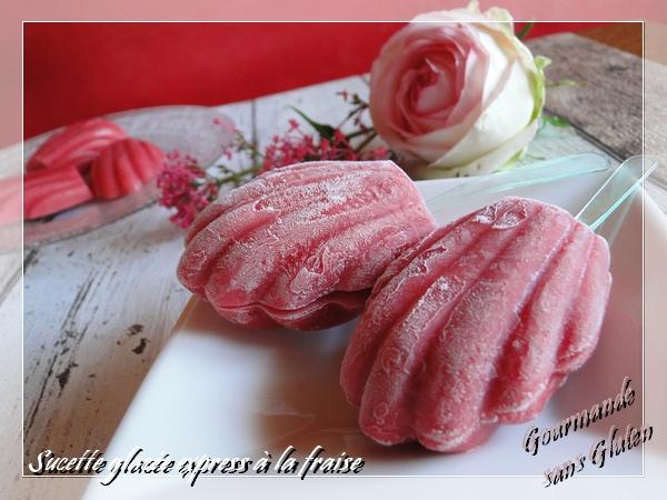 Sucette glacée express à la fraise