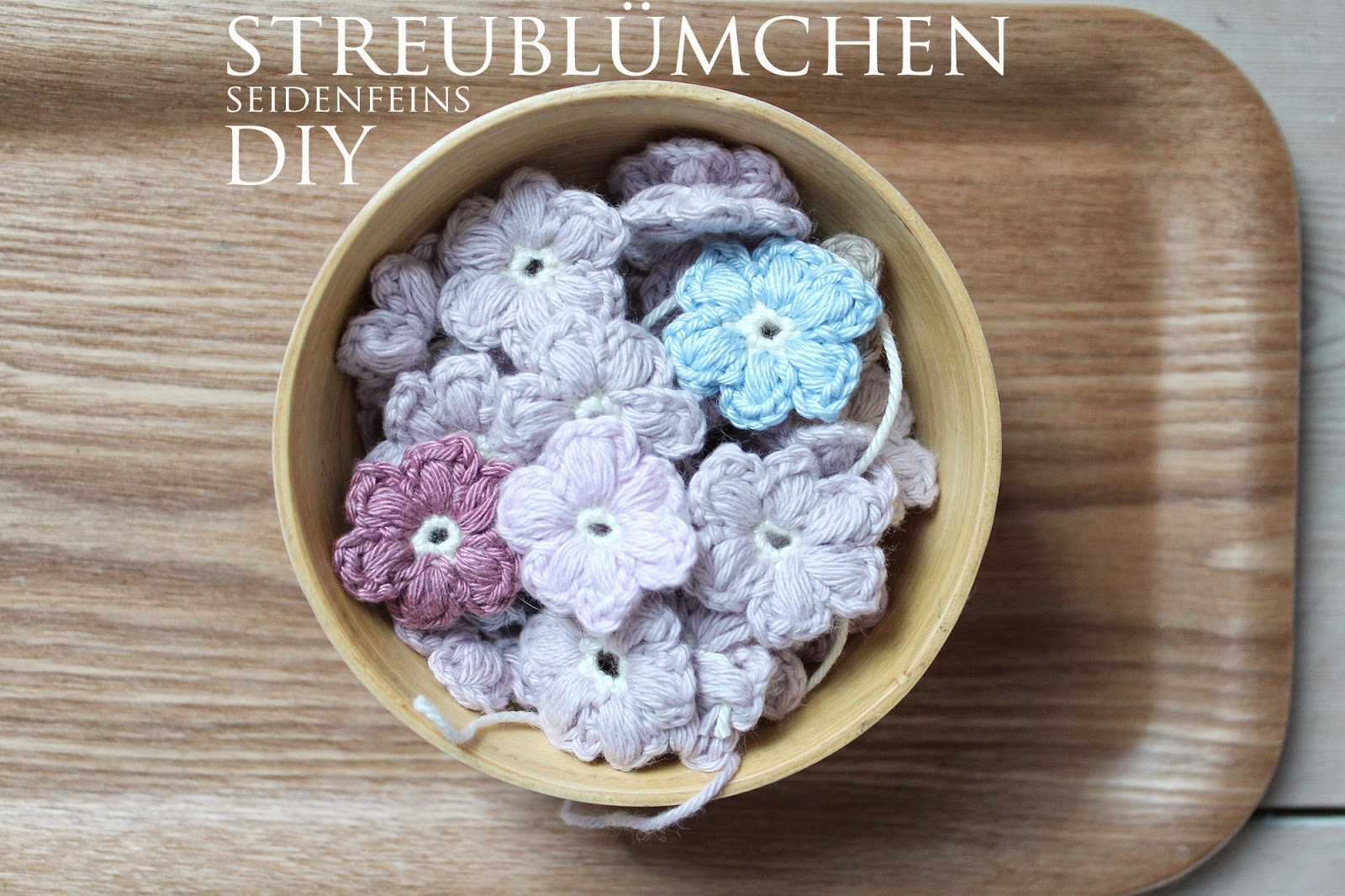 seidenfeins dekoblog streubl mchen h keln diy crochet little daisys. Black Bedroom Furniture Sets. Home Design Ideas