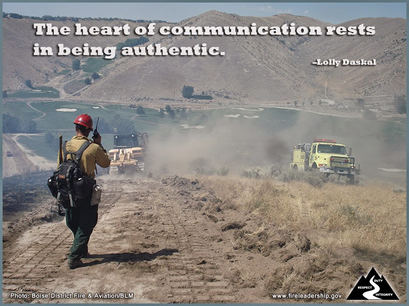 The heart of communication rests in being authentic. –Lolly Daskal
