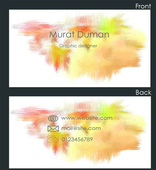 Free Colored Business Card PSD