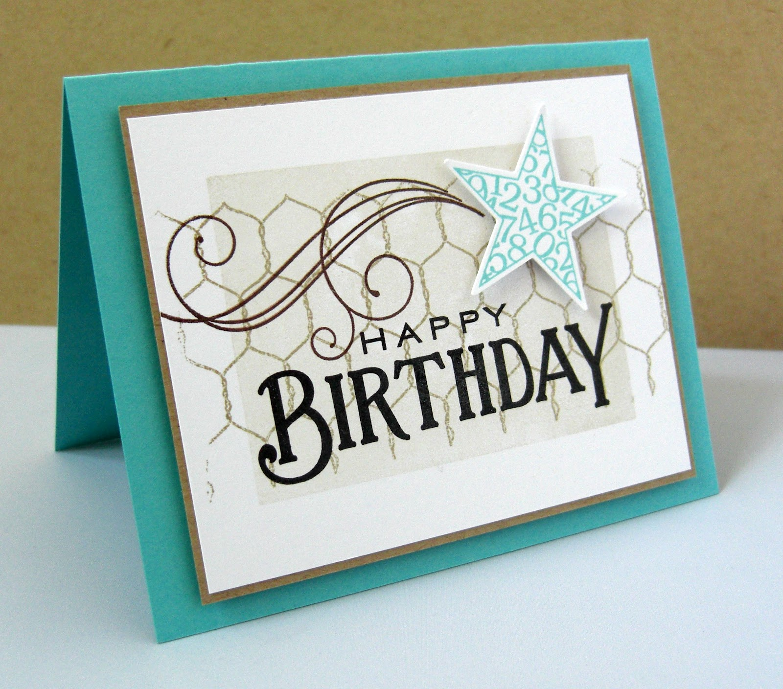 Birthday Cards For Men ~ Stamping sharing march