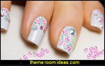 Arabesque Flower Nail Art Water Decals Transfers Decoration