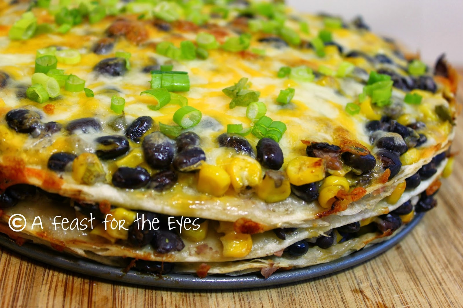 Feast for the Eyes: Tortilla and Black Bean Pie