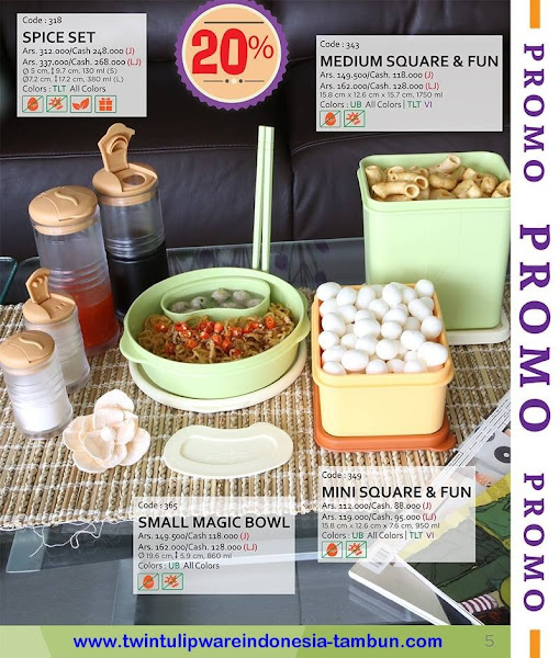 Promo Diskon Tulipware | Nopember - Desember 2015, Multi Tumbler, Splash Bottle Fun Series