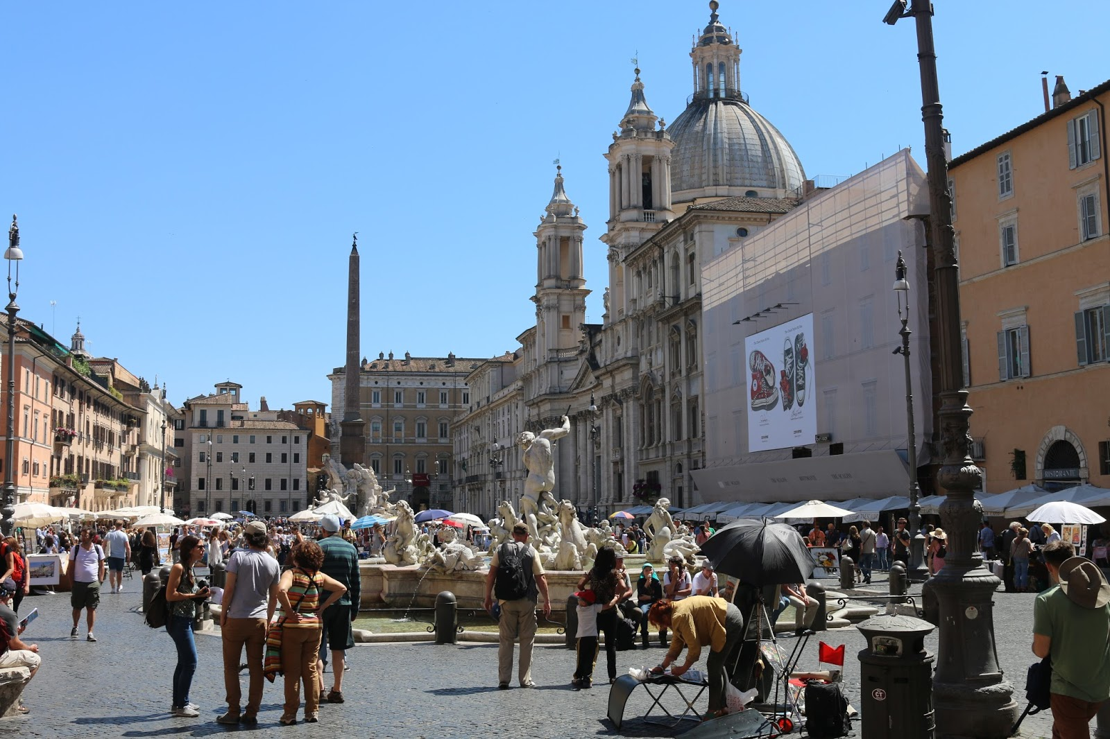 Horse and carriage ride in rome