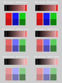 Color Pattern; Small Blocks on Bottom; Dithered Gradient; Mode Saturation