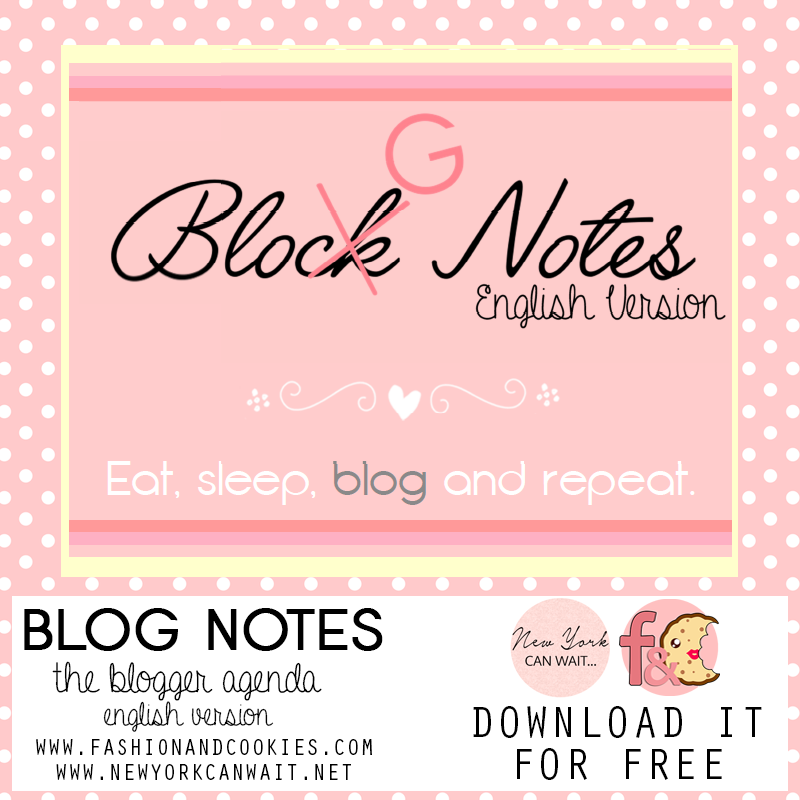 free printable agenda for bloggers in english, free cute blogger agenda, planner for bloggers,
