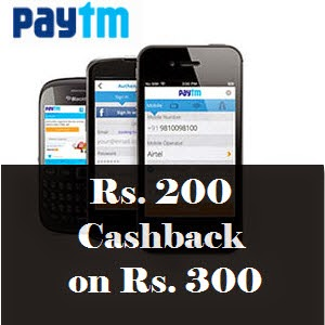 Paytm Shopping - Rs. 200 Cashback on Rs. 300 for New App users
