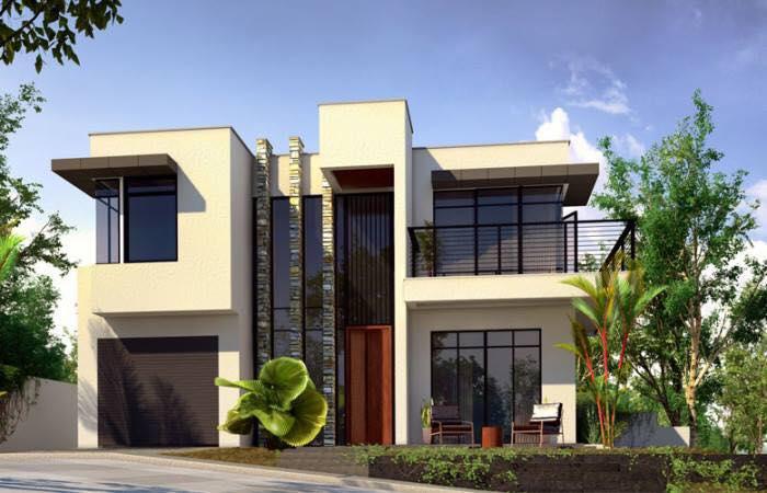 Construindo minha casa clean casa moderna fachada e for Casa moderna flooring