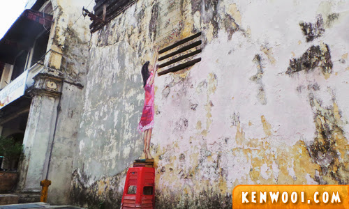 ipoh wall art mural girl
