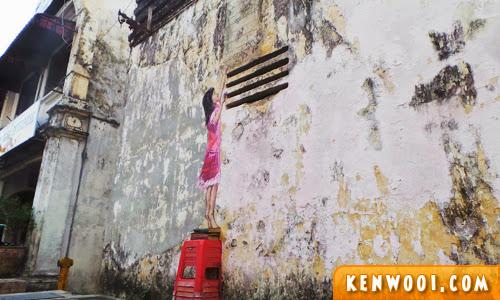 ipoh wall art mural girl
