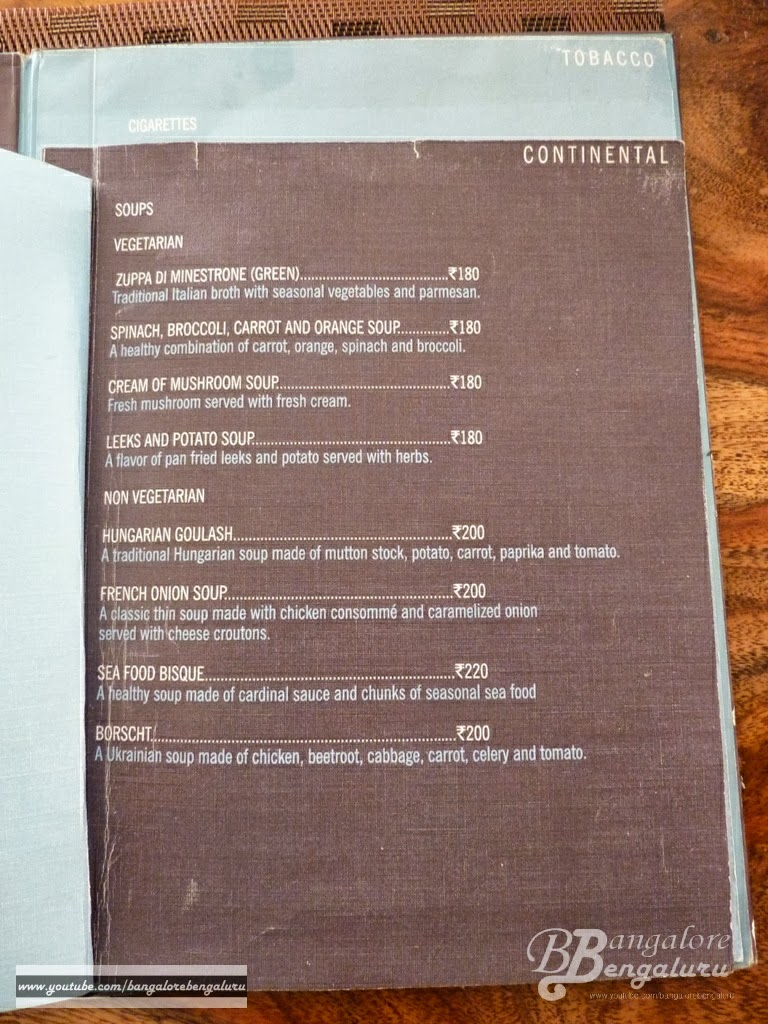 You can also view the menu in their official website