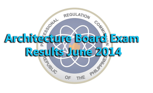 Architecture Board Exam Results June 2014