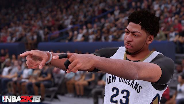 NBA 2K16 Anthony Davis Screenshot