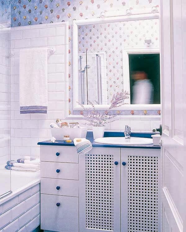 Tr u00eas casas de banho em azul ~ Decoraç u00e3o e Ideias -> Decoração De Casas De Banho Em Azul