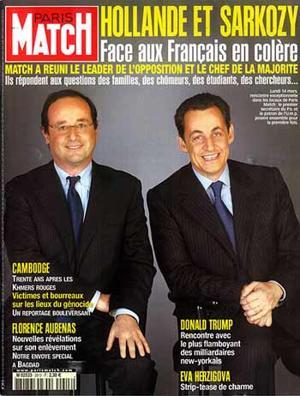 François Hollande Et Nicolas Sarkozy, benêt blanc et blanc benêt