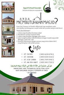 lingkungan anda butuh masjid? kami siap membangunnya