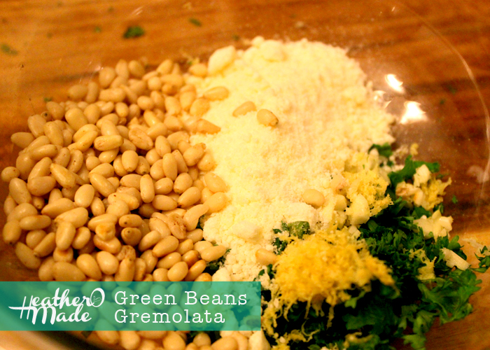 how to make green olive gremolata
