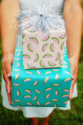 free watermelon wrapping paper