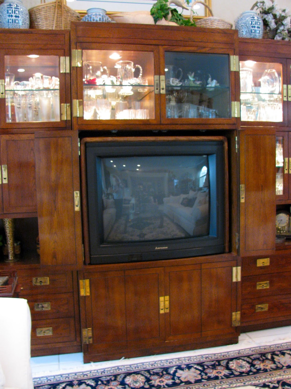 MAY DAYS: A Repurposed TV Armoire