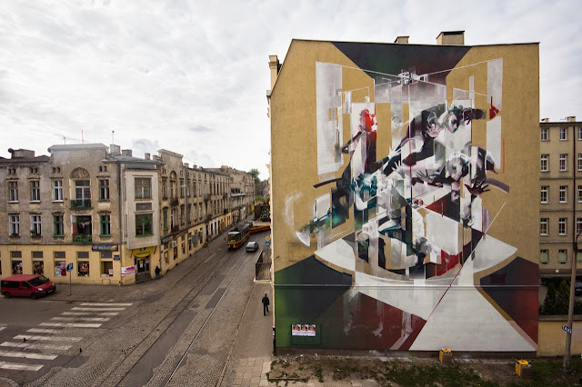Street Art By Polish Artist Tone For Fundacja Urban Forms 2013 In Lodz, Poland. 1